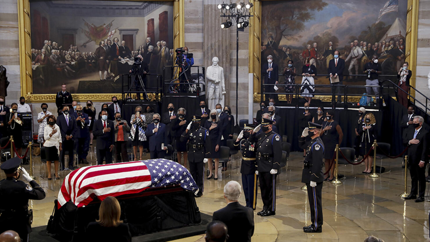 John Lewis Lies In State At The U.S. Capitol