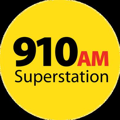 910 AM Superstation logo