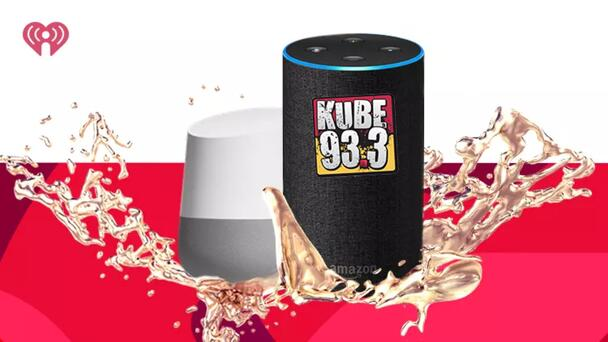 """Listen to KUBE 93.3 on Alexa, Google Home, Siri and hundreds of other devices! Say """"Alexa (or Google Home, or Siri) Play KUBE 93-3 on iHeartRadio!"""""""