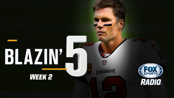 Blazing Five: Colin Cowherd Gives His 5 Best NFL Bets For Week 2 (Sep. 20)