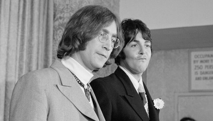 Lennon and McCartney Announce Forming of Apple Corps