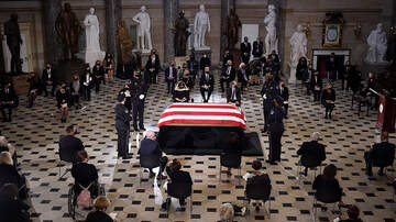 image for Ruth Bader Ginsburg Becomes First Woman To Lie In State At U.S. Capitol