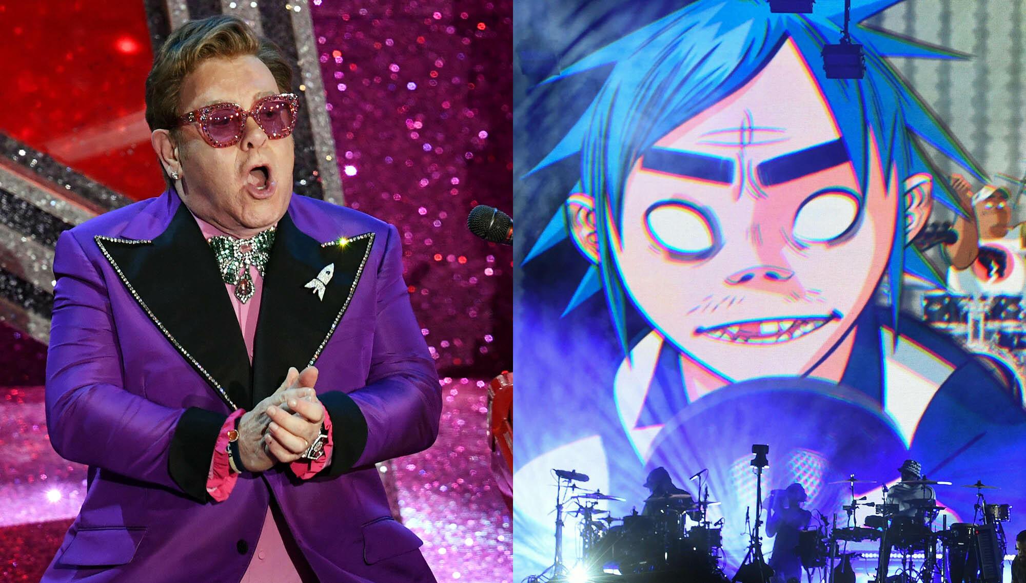 Listen To Elton John Feature On New Gorillaz Song, 'The Pink Phantom'