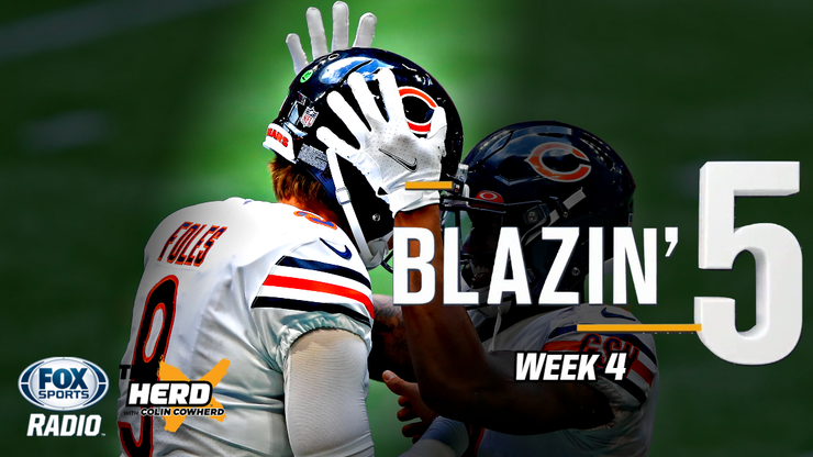 Blazing 5: Colin Cowherd Gives His Five Best NFL Bets For Week 4 (Oct. 4)
