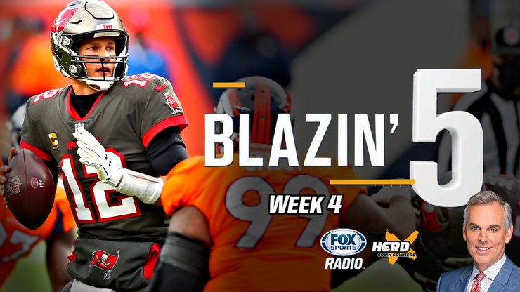 Blazing Five: Colin Cowherd Gives His 5 Best NFL Bets For Week 4 (Oct. 4)