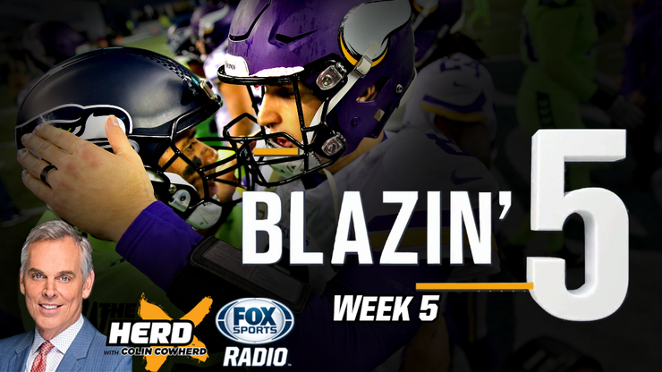 Blazing 5: Colin Cowherd Gives His Five Best NFL Picks For Week 5 (Oct. 11)