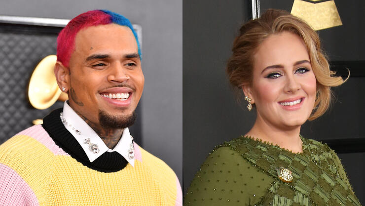 Chris Brown Reportedly Made A Late Night Visit To Adele S London Home Iheartradio