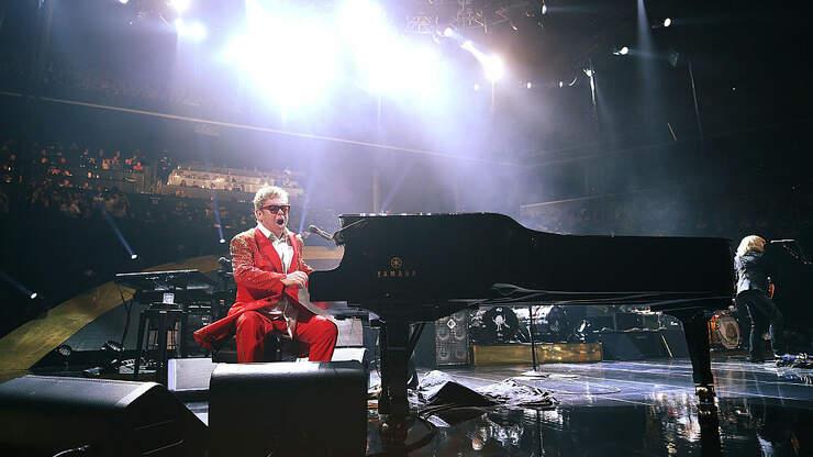Elton John, From Dodgers Stadium, circa 1975...