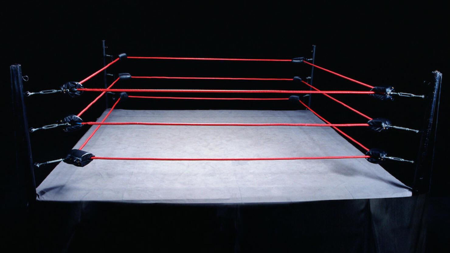 Empty wrestling ring