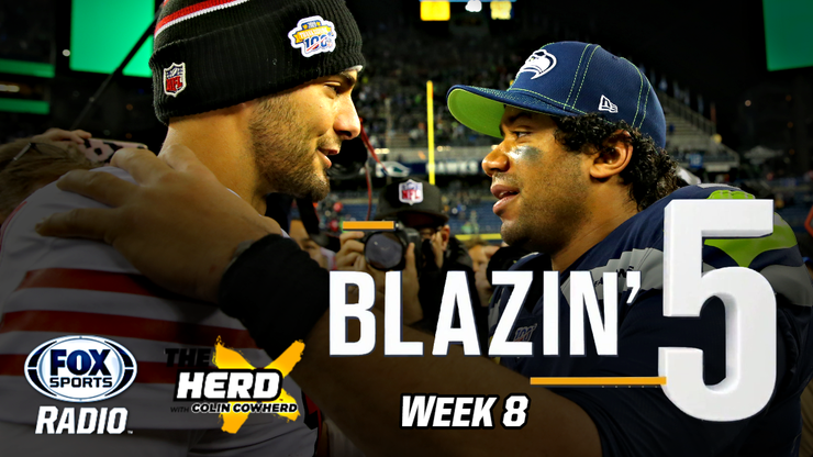 Blazing Five: Colin Cowherd Gives His 5 Best NFL Bets For Week 8 (Nov. 1)