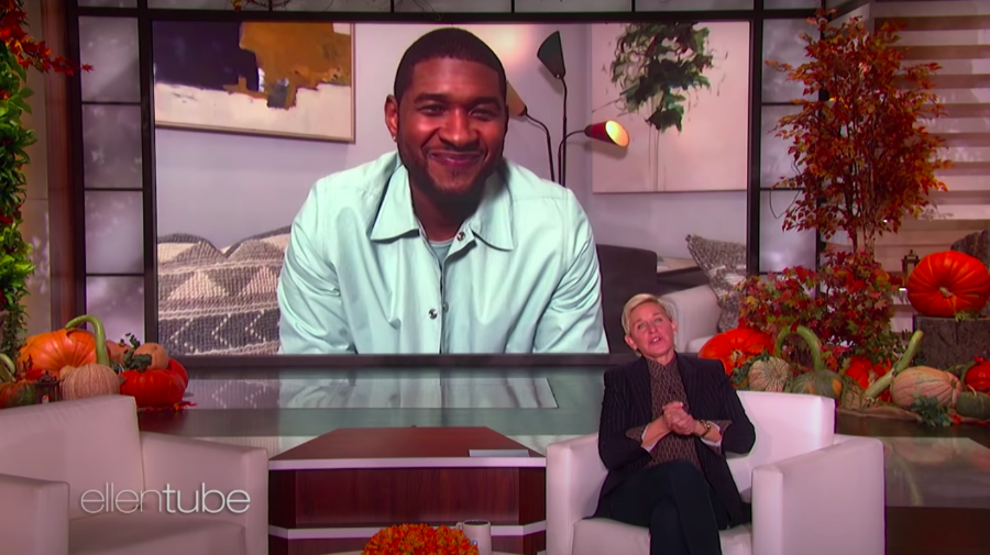Usher Unveils First Photo Of Newborn Daughter On 'Ellen'