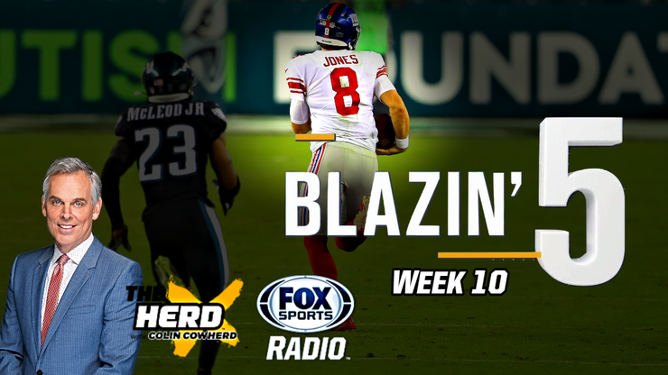 Blazing 5: Colin Cowherd Gives His 5 Best NFL Picks For Week 10 (Nov. 15)