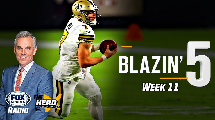 Blazing 5: Colin Cowherd Gives His 5 Best NFL Picks For Week 11 (Nov. 22)