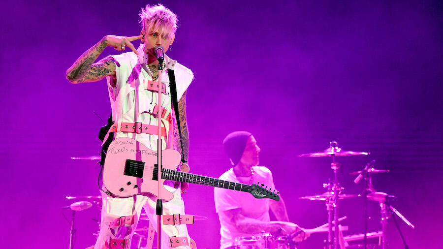 MGK Recruits Travis Barker For Explosive Debut Performances At 2020 AMAs