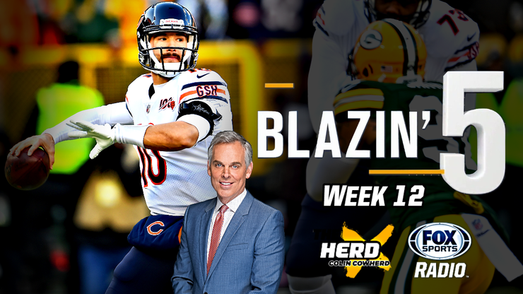 Blazing 5: Colin Cowherd Gives His 5 Best NFL Picks For Week 12 (Nov. 29)