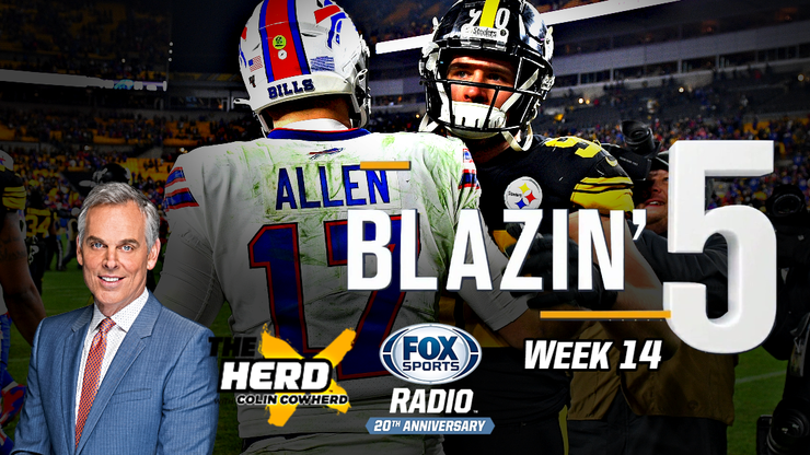 Blazing 5: Colin Cowherd Gives His 5 Best NFL Picks For Week 14 (Dec. 13)
