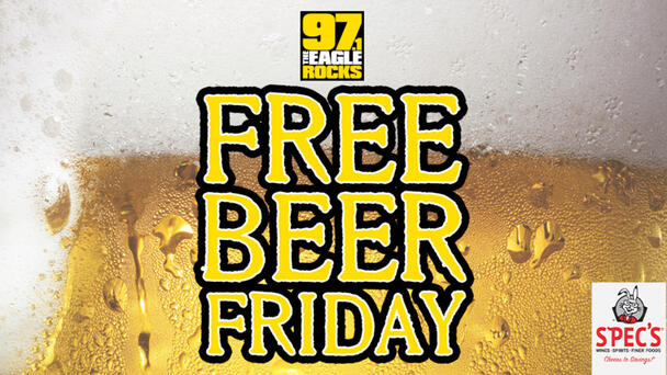 Free Beer Friday! Listen for your chance to win a $20 Specs Gift Card!