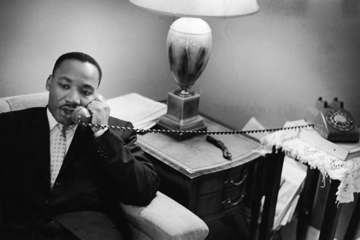 Dr. King Speaks On The Phone