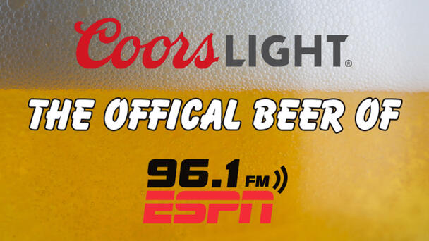 Coors Light the Official Beer of ESPN 96.1