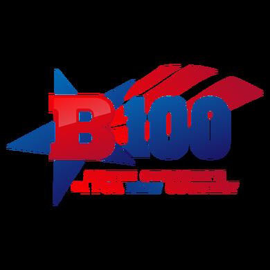 B100 logo