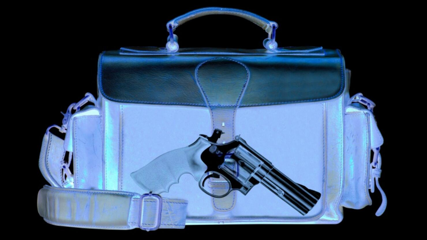 Xray scan detects weapon in criminals briefcase