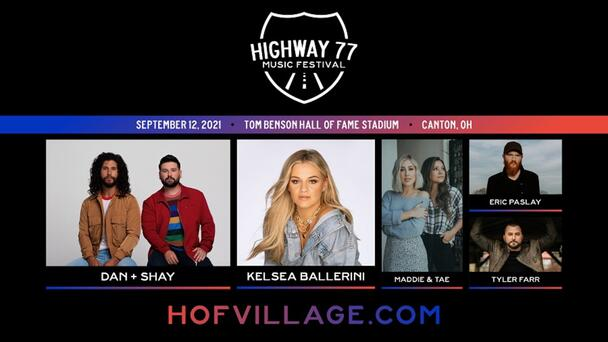 Join 106.1 The Bull at the HIGHWAY 77 MUSIC FESTIVAL, coming to Tom Benson Hall of Fame Stadium in Canton