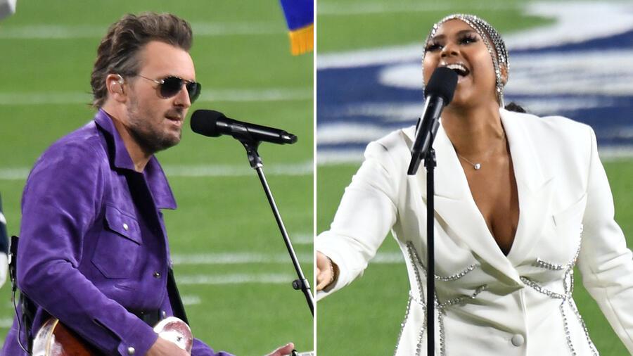 Jazmine Sullivan & Eric Church Perform National Anthem At Super Bowl LV
