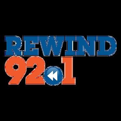 Rewind 92.1 logo
