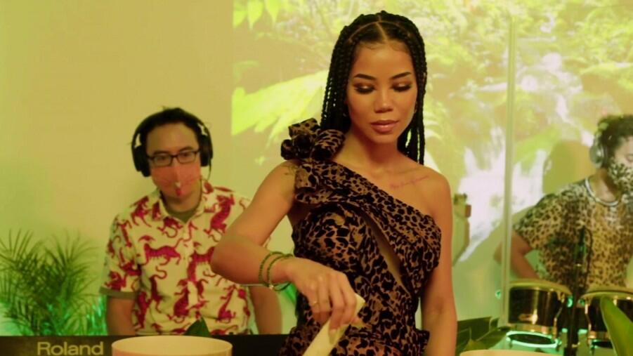 Jhené Aiko Brings Her Hits (And Singing Bowls) To iHeartRadio Living Black!
