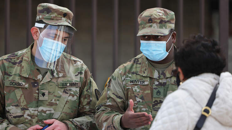 Texas National Guard Members Vaccinating Rural Seniors