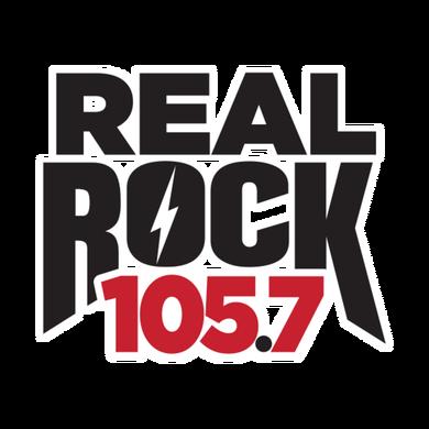 Real Rock 105.7 logo