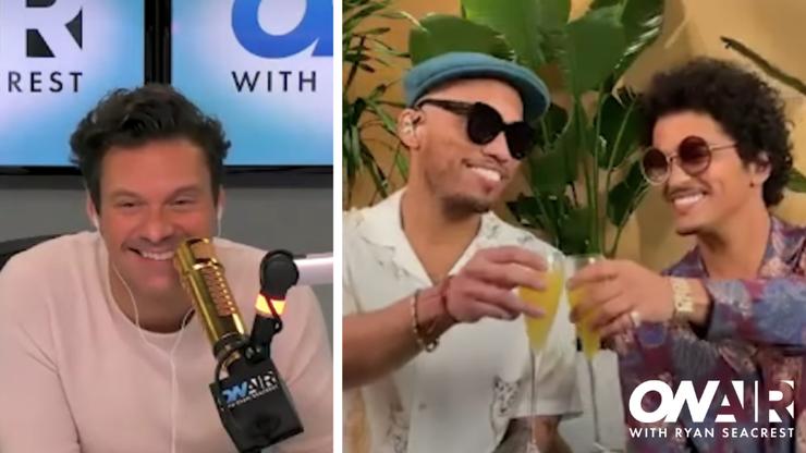 Bottoms Up! Ryan Seacrest & Silk Sonic Celebrate 'Leave The Door Open' Drop