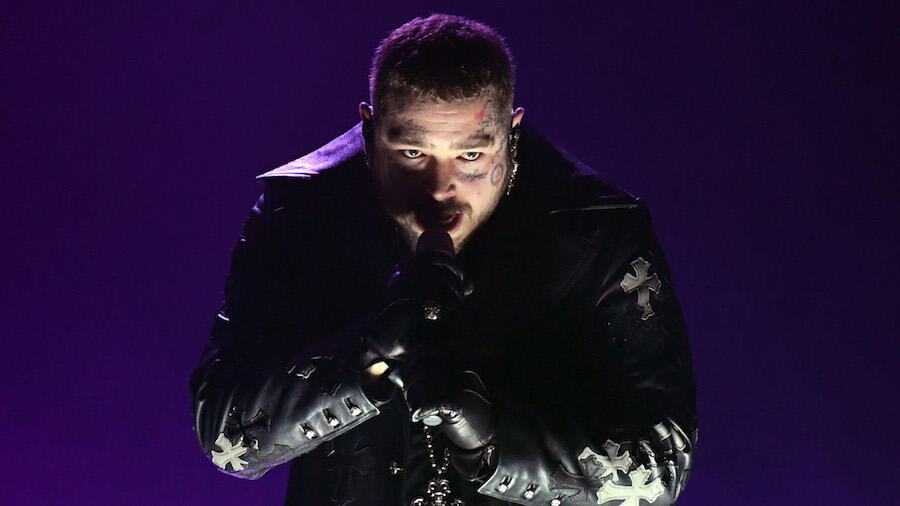 Post Malone Goes Dark With 'Hollywood's Bleeding' At 2021 Grammy Awards