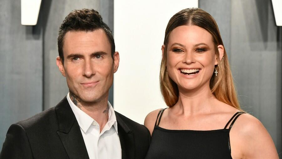 Adam Levine Rocks A Dress To Match Wife Behati Prinsloo And Their Daughters