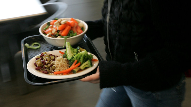 Images Show White Students Eating While Black Students Going Without Food