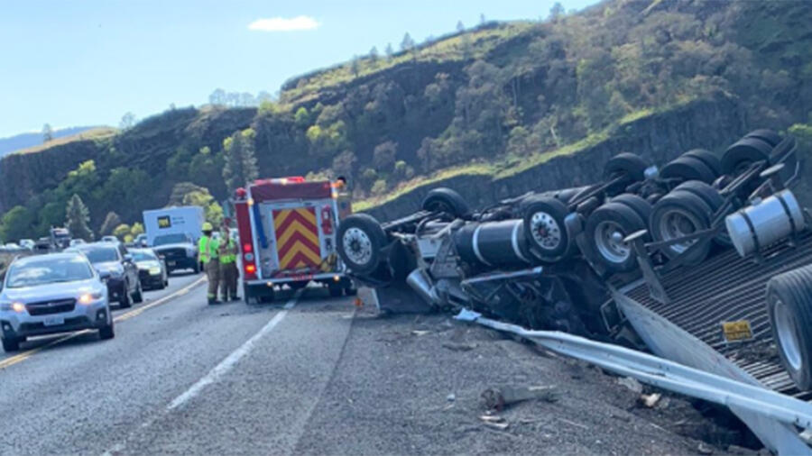 Bee Sting Causes Semi-Truck To Overturn, Spilling Cheese Over The Roadway
