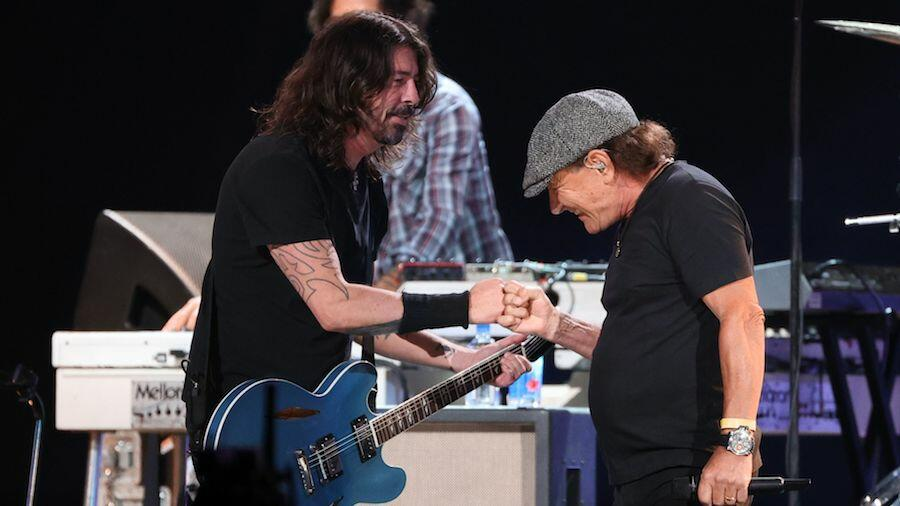 Dave Grohl & AC/DC's Brian Johnson Join Forces At 'VAX Live' Concert