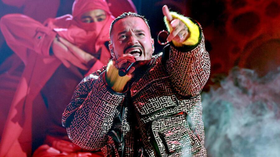 J Balvin Performs 'Otra Noche Sin Ti' & 'Tu Veneno' At 'VAX Live' Concert