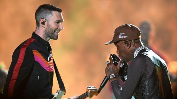 Adam Levine Asked Travis Scott For $35K Shoes To Perform At Super Bowl