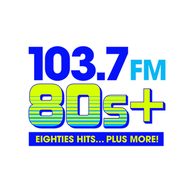 80s+ 103.7 logo