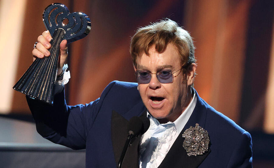 Elton John Accepts iHeartRadio Icon Award With Moving, Meaningful Speech