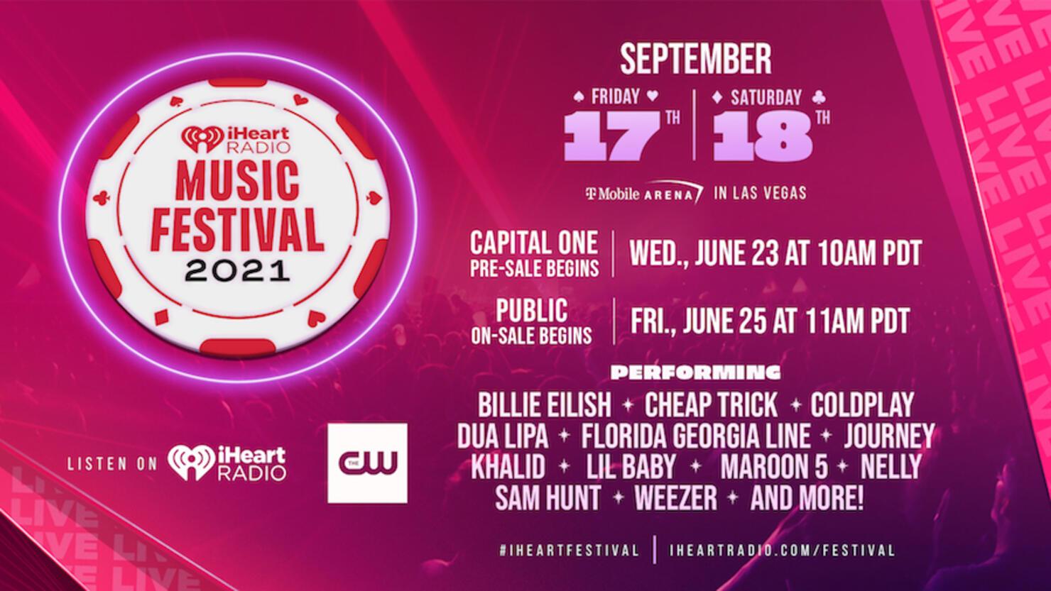 iheart music festival lineup 2021