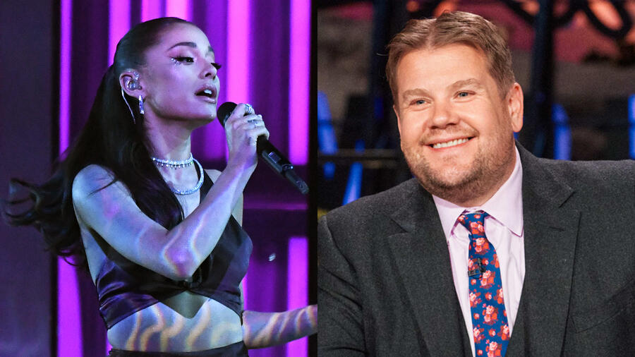Watch Ariana Grande & James Corden Spoof 'Hairspray' In Post-Lockdown Skit