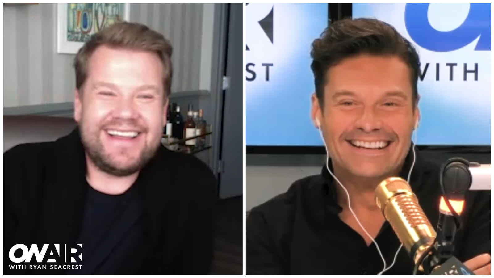 James Corden Hilariously Roasts Ryan Seacrest Over His Gold Microphone