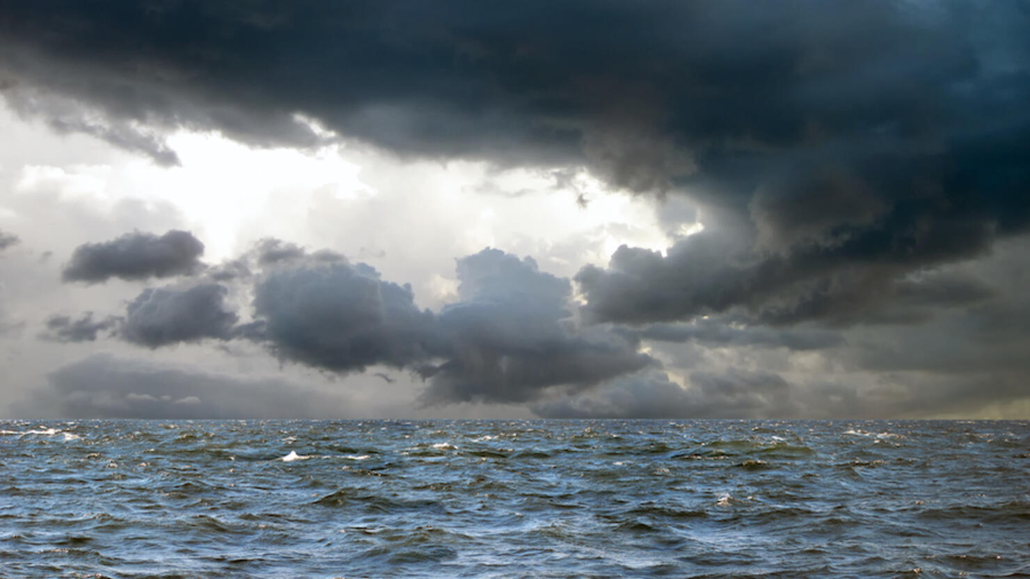 Tropical storm and spooky seascape