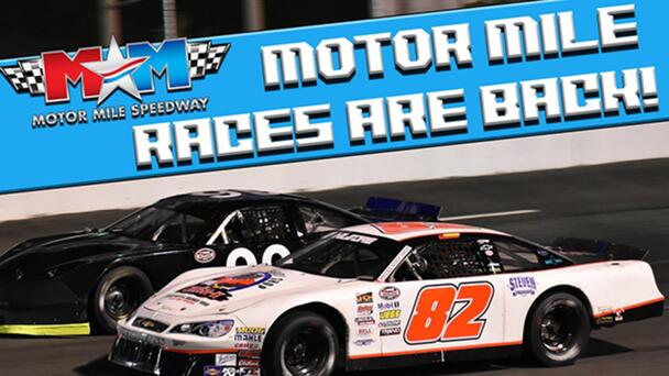 Win a 4-Pack of Tickets to the Races at Motor Mile Speedway!