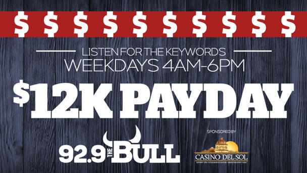 Listen to win $1,000 with the $12K Payday!