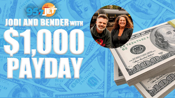 Jodi & Bender With The $1,000 Payday