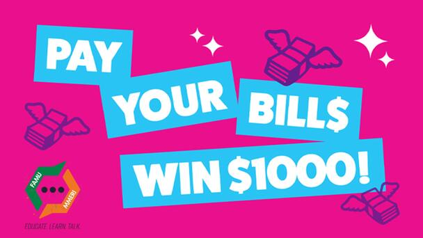 We're giving you the chance to win $1000, 12 times every weekday!
