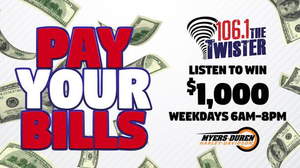 Listen To Win $1,000 Weekdays 6am-8pm